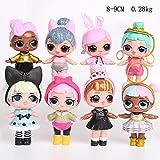L.O.L サプライズ人形,かわいいおもちゃ 子供のための,8個/セット