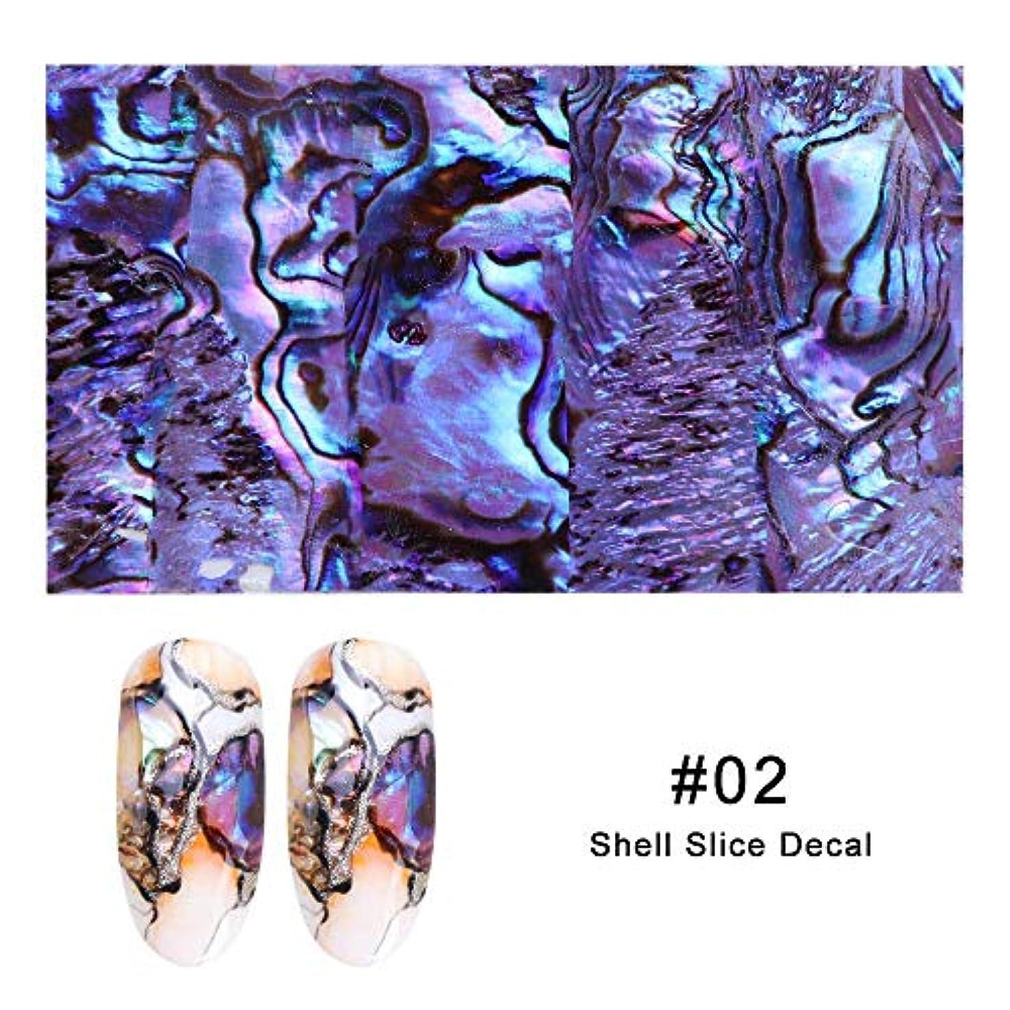 マウスピース通貨入口Artlalic 1シートシェルアワビネイルアートシールグラデーションマーメイドフレークネイル箔シーサイドデザインステッカーデカール15色