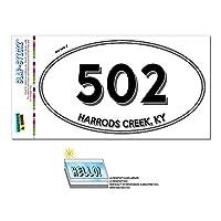 502 - ハロッズクリーク, KY - ケンタッキー州 - 楕円形市外局番ステッカー