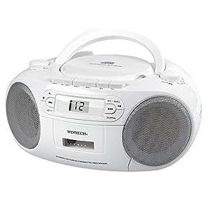 WINTECH CDラジカセ(FMワイドバンド対応) ホワイト CDR-N6