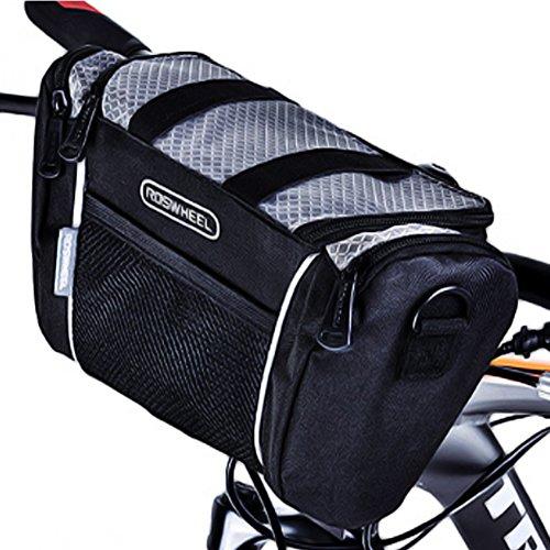 Several Gears フロント サイクルバッグ 大容量 多機能 ストラップ付 防水仕様 手持ち ショルダーバッグ と...