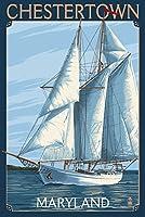 Chestertown、メリーランド州–ヨットシーン 24 x 36 Giclee Print LANT-54958-24x36