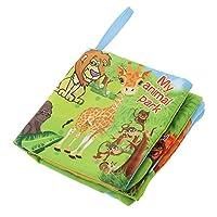 Lovoski 全6種類 カラフル かわいい 布&ポリエステル製  ブック  ソフト  赤ちゃん  幼児  認識能力 開発 教育玩具  贈り物   - 動物