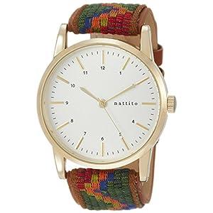[フィールドワーク]Fieldwork 腕時計 ファッションウォッチ カメスト アナログ コットンベルト ブラウン QKD055-3