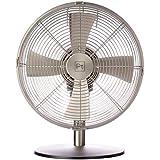 Goldair 30CM Metal Desk Fan, Satin Silver
