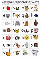 私のABCアルファベットの学習表 My ABC Alphabet Learn table silk fabric poster シルクファブリックポスター 110cm x 80cm