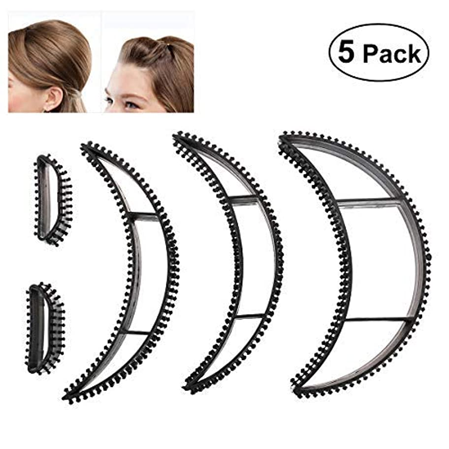 一口流用するガラガラTinksky Big Bumpits Happie Hair Volumizing Inserts Hair Pump Beauty Set Tool Gift,Pack of 5 (Black) [並行輸入品]