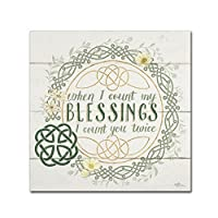 商標FineアートIrish Blessing II by Janelle Penner 18x18 WAP0412-C1818GG