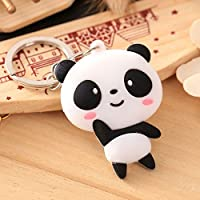 Funchur 1 Pcs Cute Panda Keychain Handbag Pendant Keyring Hanging Ornament Purse Handbag Car Decoration Gift