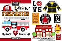 消防士Occupationスクラップブックステッカー(61132)
