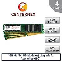 4GBキット( 4x 1gbモジュール) Ramメモリfor Acer Altos g901( g901ug3000) ( pc2100Reg )サーバーメモリ&ワークステーションメモリアップグレードby US Seller