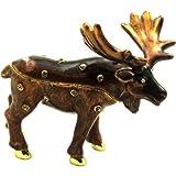 Objet D'Art トリンケットボックス 「北アメリカムース」ヘラジカの宝石箱