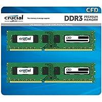CFD販売 デスクトップPC用メモリ PC3L-12800(DDR3L-1600) 8GB×2枚 / 240Pin / 1.35V/1.5V両対応 / 無期限保証 / Crucial by Micron / W3U1600CM-8G