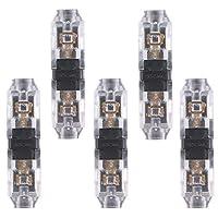コネクタ 銅 LEDテープライトコネクタ コーナーコネクタ I形/T形 5/8mm LEDテープ装飾直角スナップコネクタ 20-24AWGワイヤーに対応 半田不要 使いやすい 5個セット 5つ仕様選べ Matefieldjp