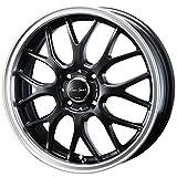 【ホンダ N BOX(JF系 ターボ車)2011~】 ホイール:BLEST ユーロスポーツ タイプ805_セミグロスブラック 5.0-15 4/100 タイヤ:YOKOHAMA Bluearth AE-01 165/55R15 (15インチ アルミホイールセット)