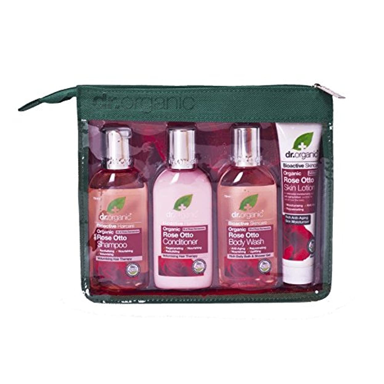 つま先セラフまっすぐにするDr Organic Rose Otto Mini Travel Pack (Pack of 2) - Dr有機ミニ旅行パックをオットーローズ (x2) [並行輸入品]