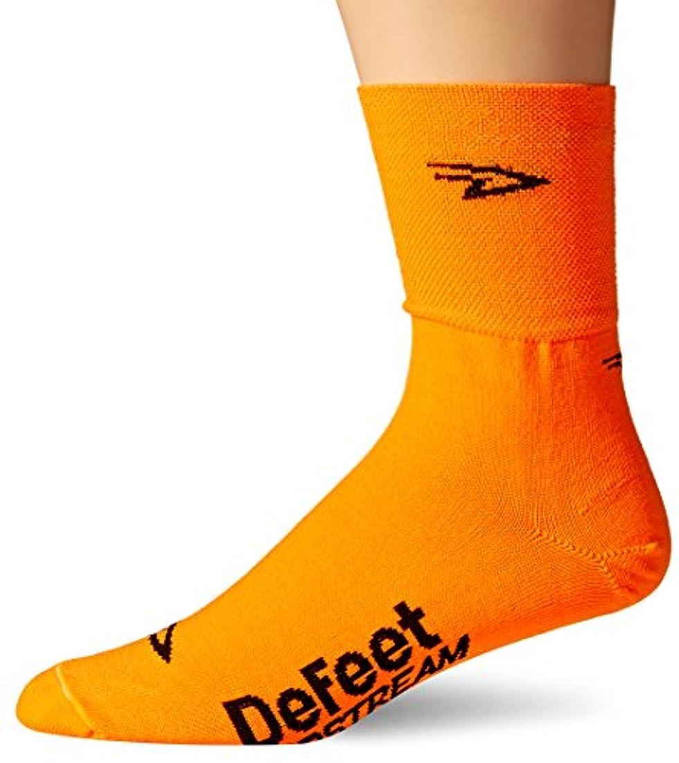 日帰り旅行に士気呼び出すDeFeet(ディフィート) Slipstream D-Logo シューズカバー Hi-vis オレンジ  S/M