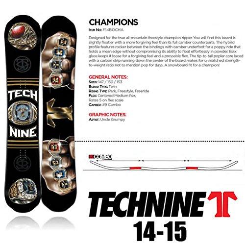 テックナイン 板 14-15 CHAMPIONS  T9 TECHNINE 14-15 スノーボード   153cm