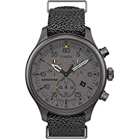 Timex TW2T72900 Men's Expedition Field Chronograph Grey Fabric Band Grey Dial Watch