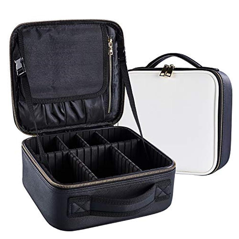 ArcEnCiel メイクボックス プロ用 化粧道具 コスメ収納 化粧箱 收納抜群 大容量 メイクアップ ボックス