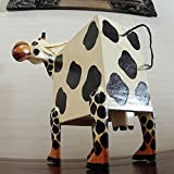 アジアン・バリ雑貨・木彫り:キリンの木彫り置物と思いきや実は投票・アンケート箱!
