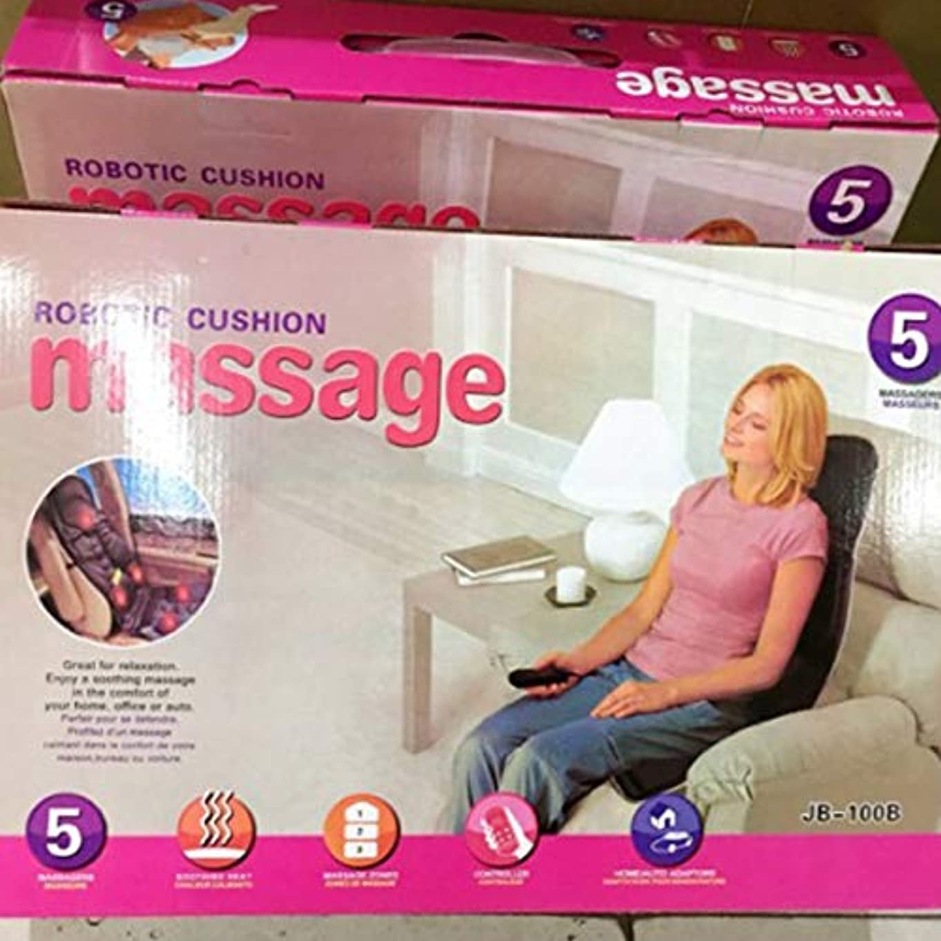 好み変更考案するCar Chair Home Seat Heat Cushion Back Neck Waist Body Electric Multifunctional Chair Massage Pad Back Massager