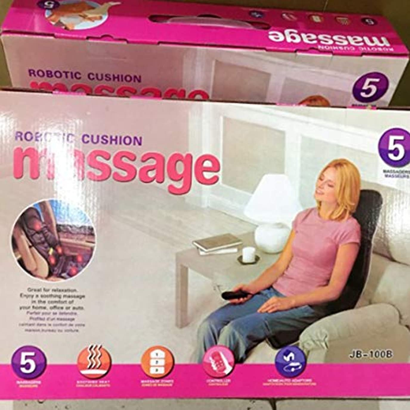 考案するスクラップブック交通渋滞Car Chair Home Seat Heat Cushion Back Neck Waist Body Electric Multifunctional Chair Massage Pad Back Massager