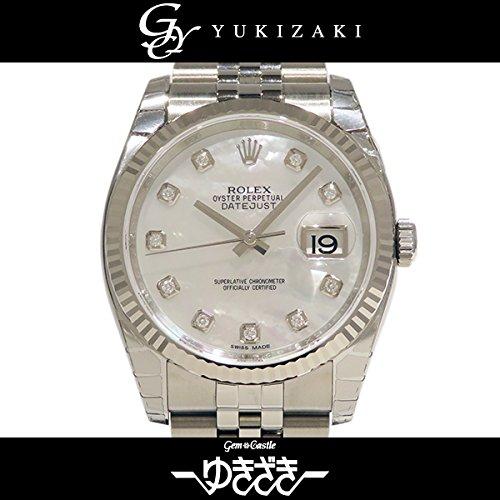 ロレックス デイトジャスト 116234NG ホワイトシェル メンズ 腕時計 [並行輸入品]