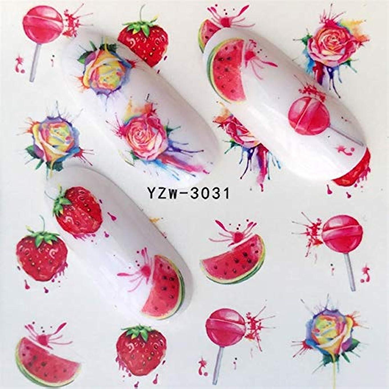 図割る思い出すCELINEZL CELINEZL 5個ウォータートランスファーステッカーデカールフラワーステッカーネイル用、カラー:YZW-3031