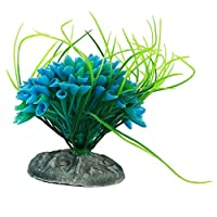 Cngstar 人工大水草 水槽オーナメント用 水族館の植物 水槽装飾 水槽 シミュレーション水草 多色 色のボール (青)