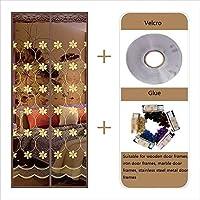 磁気はえの防虫網のドアポリエステル磁気カーテンの魔法ののりのカーテンの反蚊のための極度の静かな縞の暗号化または反害虫磁気柔らかいドア寝室、Liviのために適した