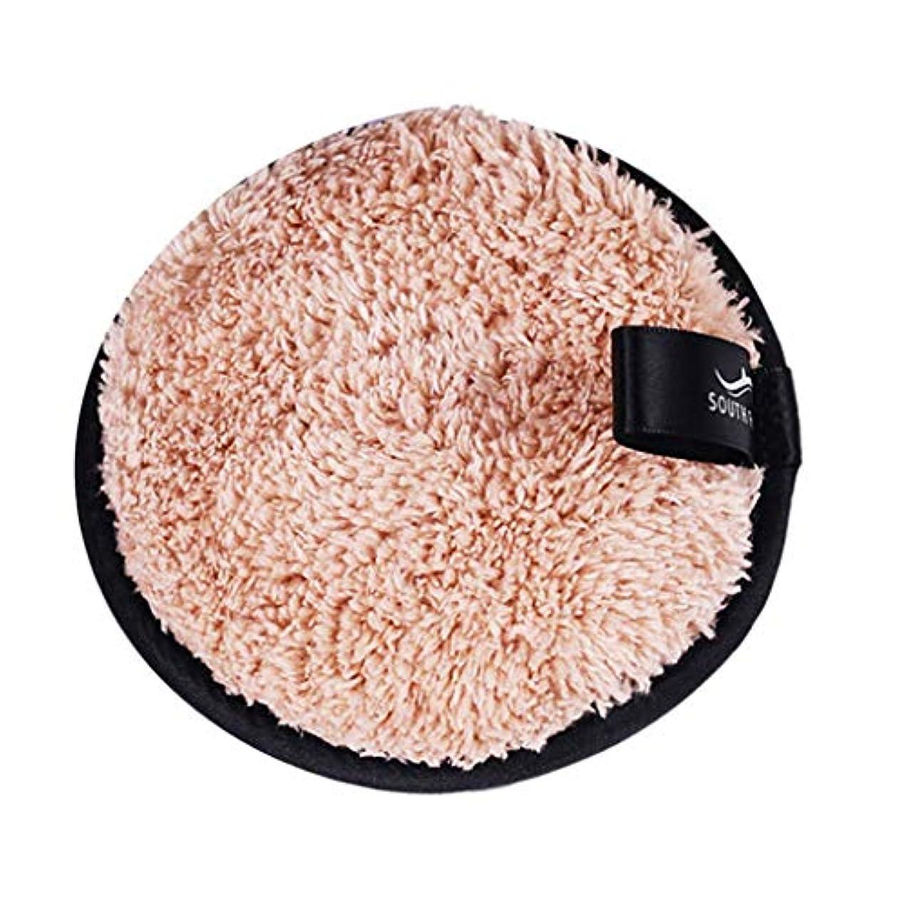仲人テクニカル例メイクリムーバーパッド 化粧品 フェイシャル クレンジング パフ スポンジ 3色選べ - 褐色