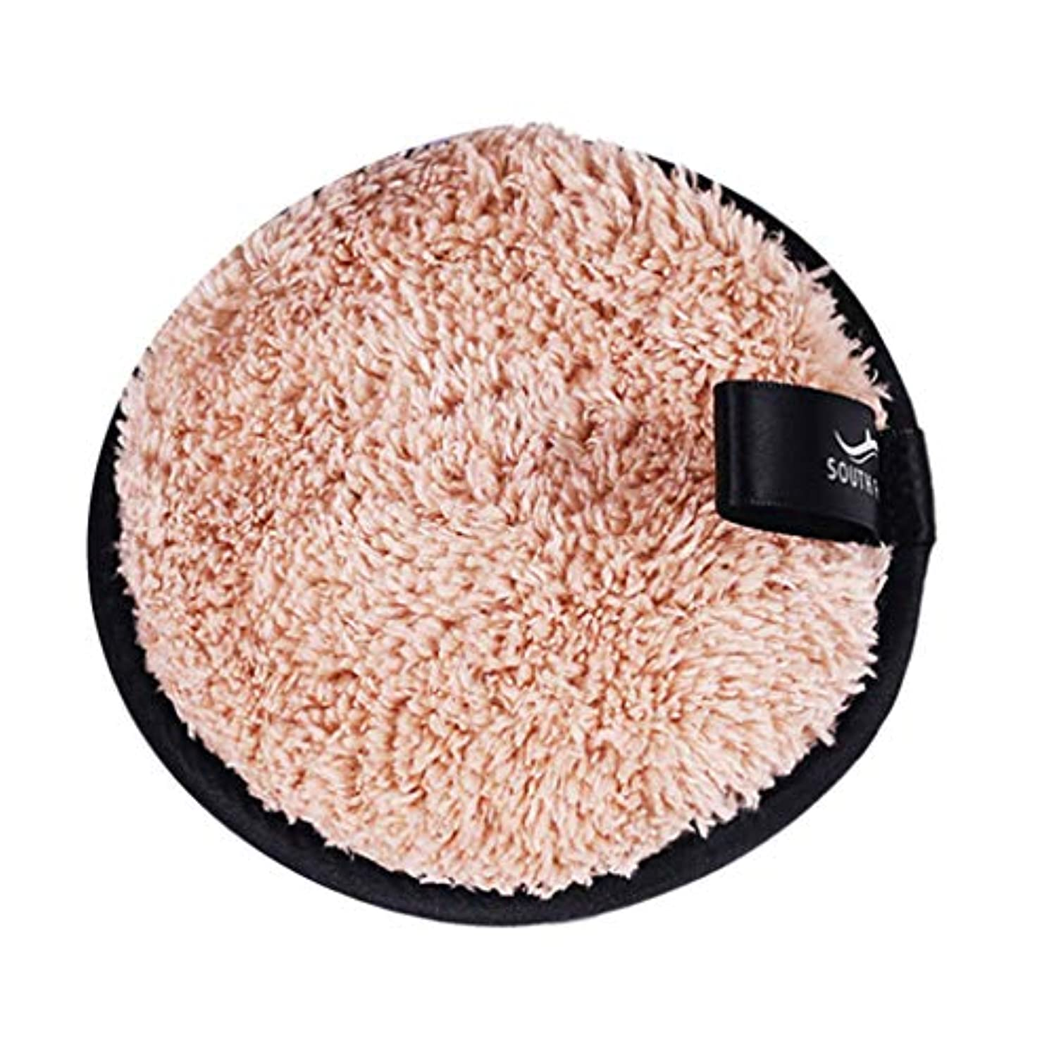 柔和やるインストラクターFLAMEER メイクリムーバーパッド 化粧品 フェイシャル クレンジング パフ スポンジ 3色選べ - 褐色