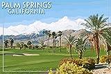 パームスプリングス、カリフォルニア???ゴルフコースシーン 36 x 54 Giclee Print LANT-41777-36x54