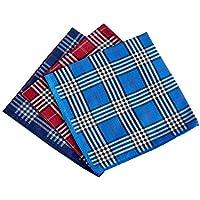 Men's Handkerchiefs 100% Cotton Checker Pattern 6 Pieces