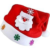【ノーブランド品】 子供用 女の子 男の子 サンタ帽子 クリスマス 帽子 ハット ノベルティ トナカイ サンタさん 雪だるま 贈り物 全3パターン - サンタさん