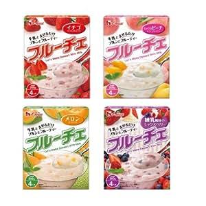 ハウス フルーチェ イチゴ・ミックスピーチ・メロン・練乳風味ミックスベリー 各5個セット