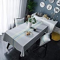 テーブルクロスを刺繍リップル多色のテーブルフラグアメリカの似顔絵コットンやリネンのティーテーブルの配置マットテーブルクロス長方形 家居装飾品 (Color : Gray, Size : 135*200)