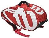 Wilson(ウイルソン) テニス ラケットバッグ TEAM J 6PACK レッド×ホワイト WRZ647706
