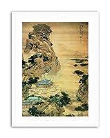 Japanese Yuan Jiang At Mount Li Escaping The Heat Canvas Art Print
