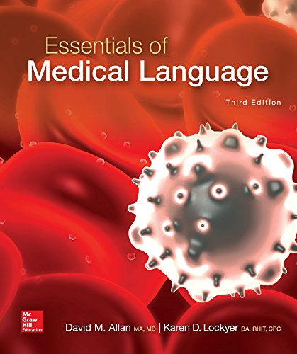 Download Essentials of Medical Language (P.S. Health Occupations) 0073513792
