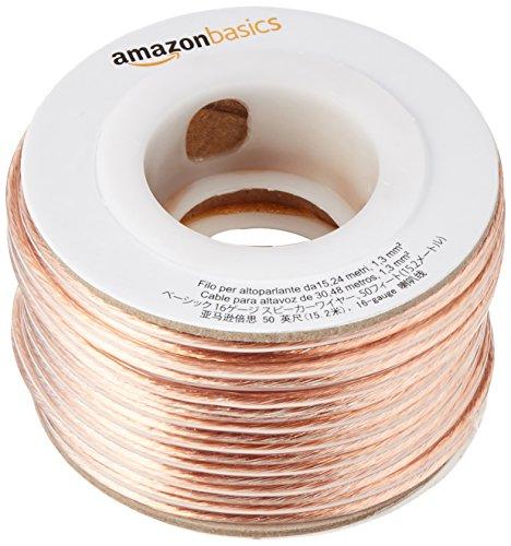 Amazonベーシック 16ゲージ スピーカーケーブル 約15...