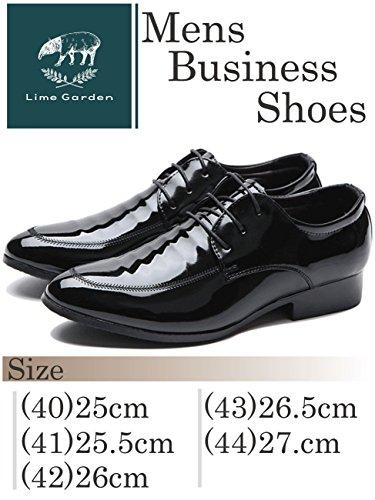 (Lime Garden) エナメル フォーマル 外羽根 ドレスシューズ ビジネスシューズ LG105 (25.5cm)
