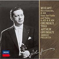 モーツァルト:ディヴェルティメント/二重奏曲 K563、K423、K424