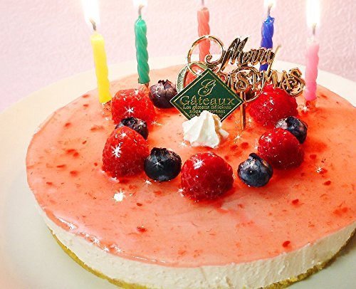 クリスマスケーキ 糖質70%カット 低糖質 ラズベリー チーズケーキ 5号【キャンドル・Xmasプレート・手紙付】(糖質制限 フルーツケーキ 砂糖不使用 スイーツ)