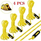 Fluorescent Yellow Guyline Runner Guy Line Camping Cord Paracord Tent Ropes