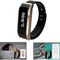 Sainte Lorande Fitness Tracker ip67防水歩数計、睡眠モニタ、カロリー、ステップカウンタブレスレットfor Android & iOS