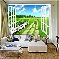 Lixiaoer カスタム壁画風景壁紙壁画リビングルームベッドルームソファーテレビの背景庭の壁紙壁画-400X280Cm