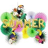 SUNBEAUTY 夏 ハワイアンパーティー飾り 結婚式/誕生日飾り付けセット 100日お祝い 店のディスプレイ ホームパーティー インテリア