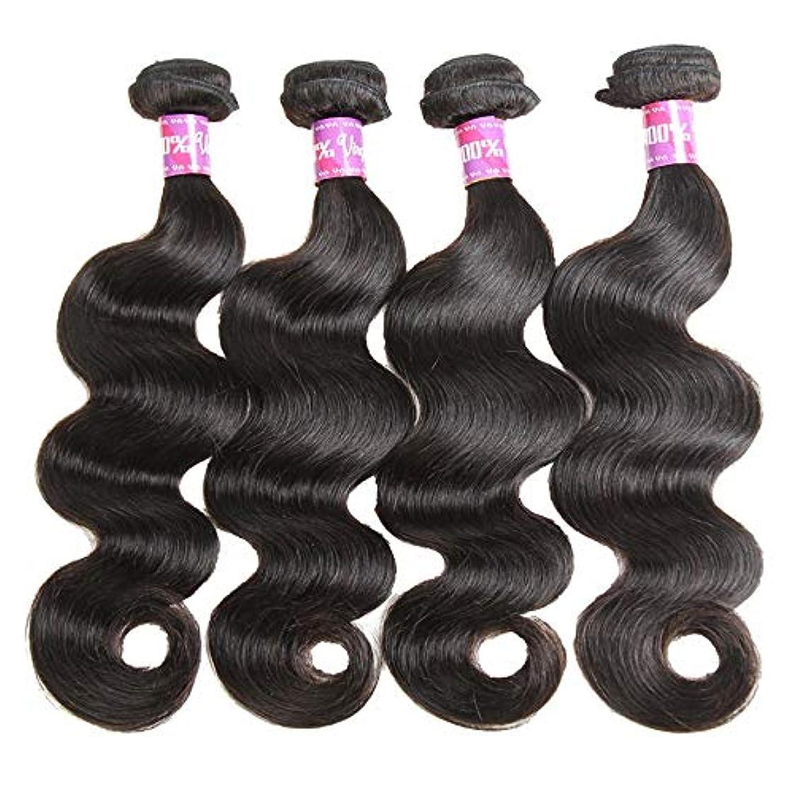 カストディアン必要条件コマンドSRY-Wigファッション ヨーロッパとアメリカ黒人女性のための人間の髪の毛のかつら自然色 (Color : ブラック, Size : 24inch)